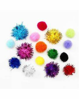 Pompon mix 50 stuks - colourful