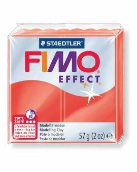 Fimo soft effect 57 gram- Transparant rood