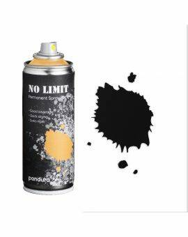No limit spraypaint 200 ml - zwart