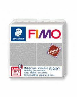 Fimo leather- Dove grey