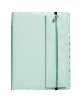 Faux leather planner met dotted papier en etui