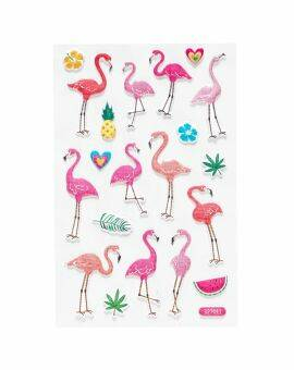 Foam stickers - flamingo