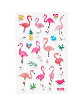 Foam stickers flamingo