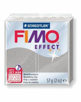 Fimo Soft effect 57 gram- Metallic zilver