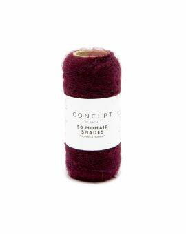 50 mohair shades 20 gram - bordeaux 40