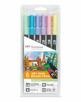 ABT Dual Brush Pen- Pastel colours 6 stuks