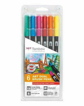 ABT Dual Brush Pen- Assorti colours 6 stuks