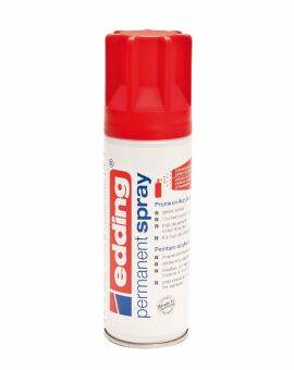 Edding 5200 permanent spray 200 ml- Verkeersrood mat