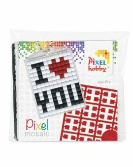 Pixelhobby medaillon startset- I love you