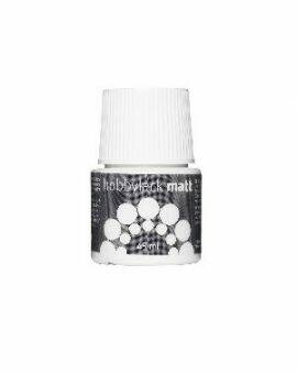 Hobbylak mat 45 ml - wit