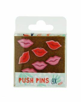 Pushpin Palms & Pizza lippen set van 6