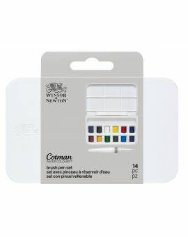 Cotman water colour brush pen set 12 halve napjes + penseel met reservoir