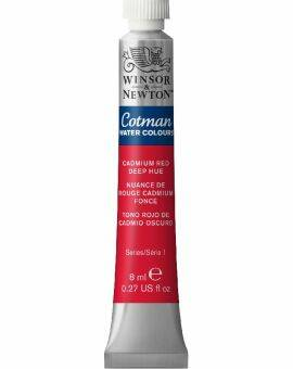 Cotman water 8 ml- Cadmium red deep