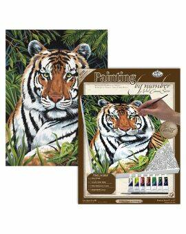 Painting by numbers canvas- tijger
